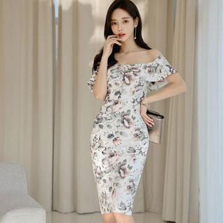 デイジーストア(dazzy store)の韓国 ドレス ワンピース キャバ 花柄(ミニドレス)