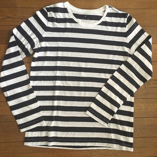 ムジルシリョウヒン(MUJI (無印良品))の長袖ボーダー 紺×白(Tシャツ(長袖/七分))