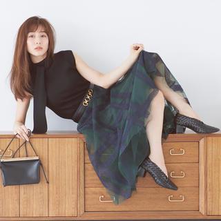 【新品】田中みなみ着用 エンブロダイリーチェックスカート SNIDEL