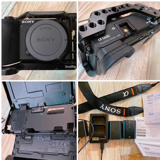 SONY(ソニー)の使用回数5回 ! SONY a6600 ボディ 豪華特典多数!予備バッテリーあり スマホ/家電/カメラのカメラ(ミラーレス一眼)の商品写真