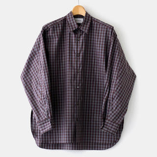 マーカウェア(MARKAWEAR)のMARKAWARE  COMFORT FIT SHIRT BROWN CHECK(シャツ)