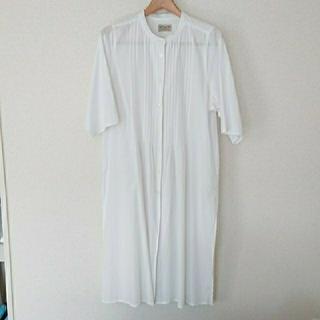 FELISSIMO - サニークラウズ ロング シャツ ワンピース ホワイト Lサイズ