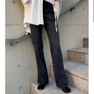 moussy - c1984【完売品】high-waist slit black denim PT