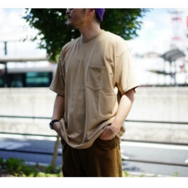 1LDK SELECT(ワンエルディーケーセレクト)のタグ付き グラフペーパー オーバーサイズTシャツ ベージュ メンズのトップス(Tシャツ/カットソー(半袖/袖なし))の商品写真
