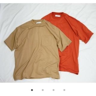 1LDK SELECT - タグ付き グラフペーパー オーバーサイズTシャツ ベージュ