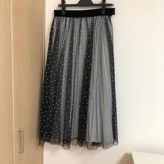 Drawer - SHE TOKYO  ドットチュール プリーツスカート 38