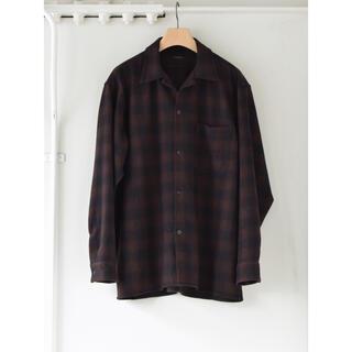 コモリ(COMOLI)のCOMOLI 20AW新作 ウールチェックオープンカラーシャツ サイズ2 新品(シャツ)