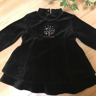 celine - ☆美品☆セリーヌの高級のあるベロアのワンピース胸元の刺繍とパールビーズが上品80