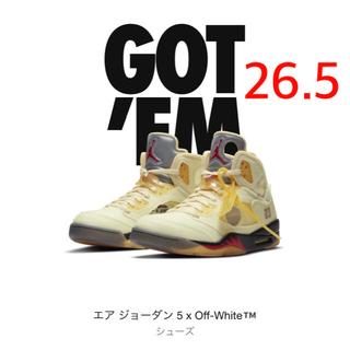 OFF-WHITE - 【新品・未使用】  ナイキ エアージョーダン 5 × オフホワイト 26.5cm