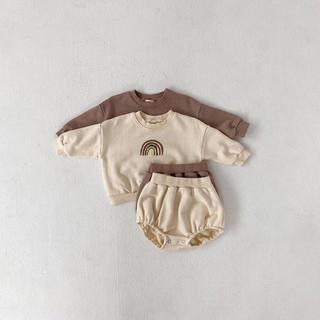 petit main - 新品未使用 タグ付き 80㎝ 女の子男の子 韓国子供服 セットアップ ロンパース