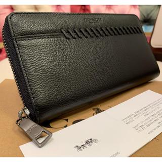 限定価格❗️最新作モデル COACH新品 レザー メンズ 長財布 ブラック