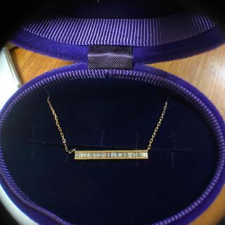 アガット(agete)のアガット K18ダイヤモンドネックレス(ネックレス)