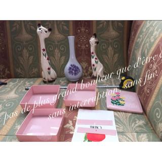 レア 七宝焼き 花瓶 ハート 置物 インテリア アンティーク シャム猫 オブジェ(彫刻/オブジェ)
