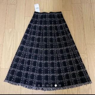 dholic - DHOLIC ツイード調 ニットスカート 新品