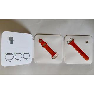 アップルウォッチ(Apple Watch)のApple Watch HERMES オレンジ ラバーバンド 38-40mm(ラバーベルト)