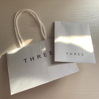 スリー(THREE)のスリー ショップ袋 ミニサイズ 2点セット(ショップ袋)