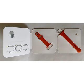 アップルウォッチ(Apple Watch)のApple Watch HERMES オレンジ ラバーバンド 42-44mm(ラバーベルト)