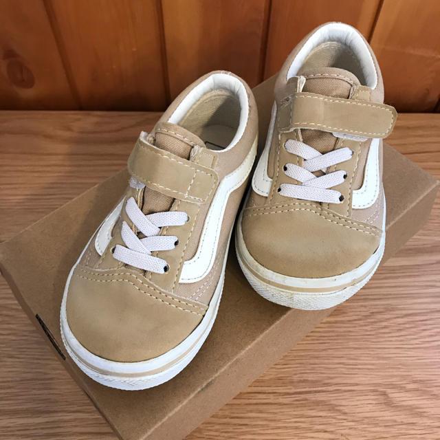 VANS(ヴァンズ)のVANS ベージュ 17センチ キッズ/ベビー/マタニティのキッズ靴/シューズ(15cm~)(スニーカー)の商品写真