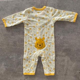 【新品未使用】 プーさん ロンパース 80 パジャマ(ロンパース)