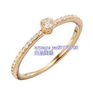 agete - 完売 agete K10 ダイヤ リング 11号 * ダイヤモンド 指輪 #11