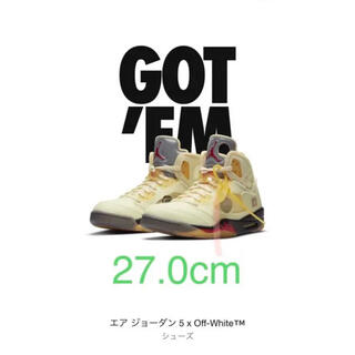 NIKE - air jordan 5× off-white