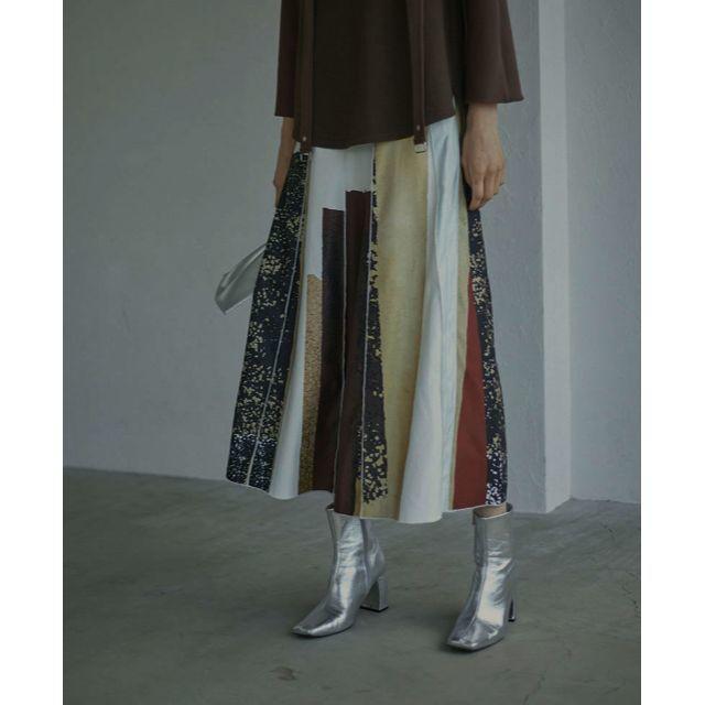 Ameri VINTAGE(アメリヴィンテージ)の即完売 FUDE ART SKIRT Mサイズ レディースのスカート(ロングスカート)の商品写真
