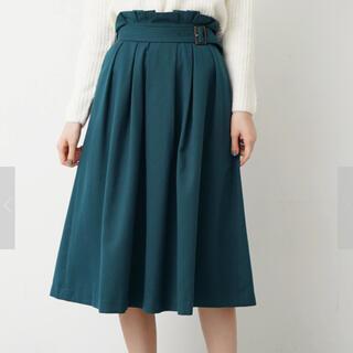 Techichi - テチチ♥新品タグ付きグリーンツイルフレアスカート