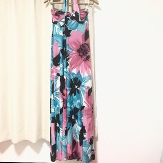 デイジーストア(dazzy store)のトロピカル フラワー マキシワンピ 南国 キャバドレス ワンピース(ロングワンピース/マキシワンピース)