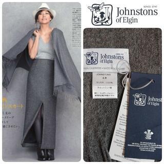 Johnstons - 国内正規 新品 ジョンストンズ 大判カシミヤストール ミッドグレー
