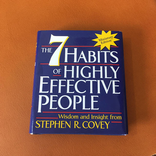 7 habits of highly effective people ミニ本(洋書)