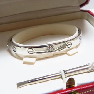 Cartier - 【旧型】カルティエ ラブブレス 6Pハーフダイヤ K18WG サイズ16
