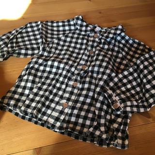ラーゴム(LAGOM)のlagom チェックシャツ 100(ブラウス)