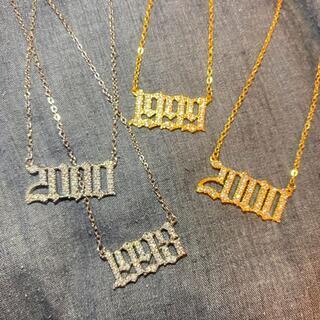 【1985~2020】ナンバーネックレス 西暦ネックレス