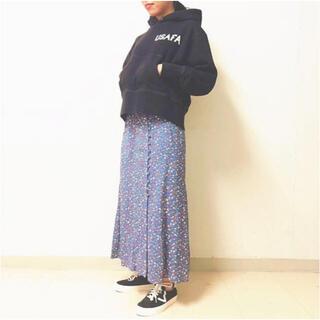 シンゾーン(Shinzone)の未使用 シンゾーン フラワー プリント スカート  花柄(ロングスカート)