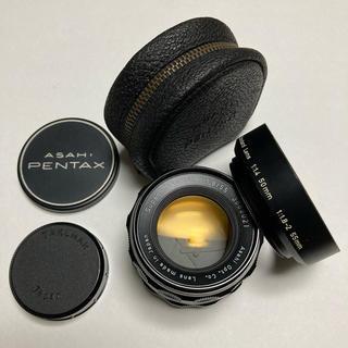 ペンタックス(PENTAX)の美品 M42 PENTAX TAKUMAR 55mm F1.8 純正付属付き(レンズ(単焦点))