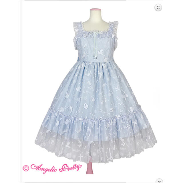 Angelic Pretty(アンジェリックプリティー)のAngelic Pretty Girl's Heart JSK 新品未使用 レディースのワンピース(ひざ丈ワンピース)の商品写真