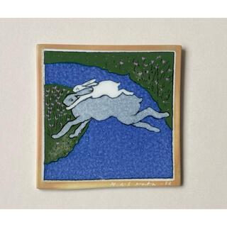 ARABIA - 青い川を越えて 1982年 アラビア ヘルヤ 陶板画