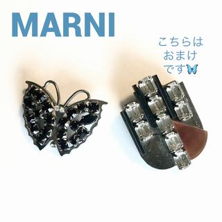 Marni - MARNI  ブローチ チョウチョ ブラック ★おまけ付き★