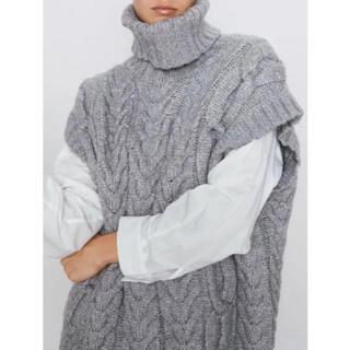 ZARA - ZARA チェーンニットセーター