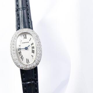Cartier - 【仕上済】カルティエ ミニ ベニュワール WG ダイヤ レディース 腕時計