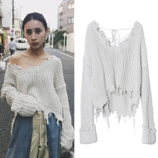 Ameri VINTAGE - 新品タグ付き WORN OUT LOOSE KNIT アメリヴィンテージ