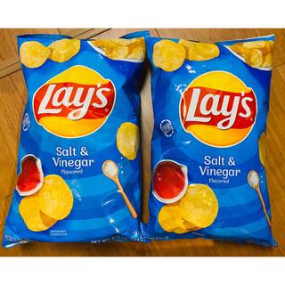 2袋 アメリカ Lay's レイズ ポテトチップス レア ソルト&ビネガー(菓子/デザート)