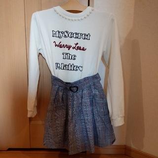 ピンクラテ(PINK-latte)のピンクラテスカートパンツズボンSサイズとおまけトレーナーMサイズ(ミニスカート)