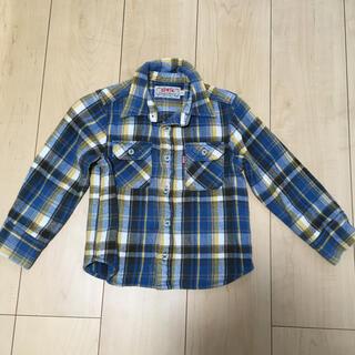 エドウィン(EDWIN)のエドウィン ネルシャツ ブルー 110 男の子(ジャケット/上着)