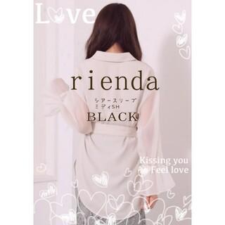 rienda - ♥rienda新品未使用♥シアースリーブミディーSH♥BLACK٩(Ü*)۶