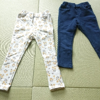 パンツ(花、紺)
