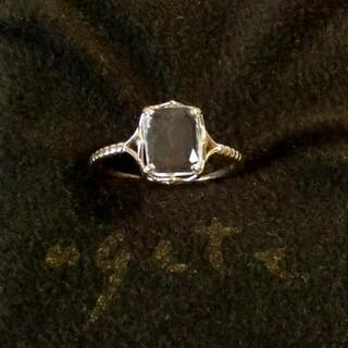 アガット(agete)のアガット アンバー(琥珀)と天然石のK10リング 9号(リング(指輪))