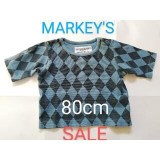 MARKEY'S - マーキーズ 五分袖 Tシャツ  80cm ※難あり 【お値下げ中です❗】