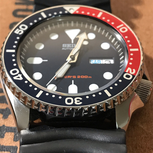 SEIKO(セイコー)のSEIKO腕時計❗️SEIKOダイバー❗️ネイビーボーイ❗️稼働品❗️ メンズの時計(腕時計(アナログ))の商品写真