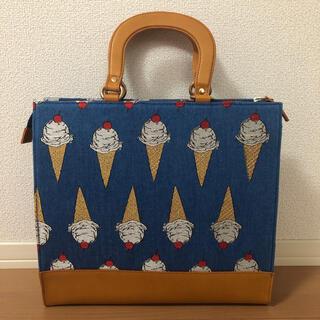 franche lippee - フランシュリッペ アイスクリーム刺繍かっちりバッグ タグ付新品未使用